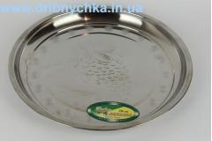 Рознос круглий металевий 28 см .