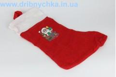 Різдвяна шкарпетка та шапка